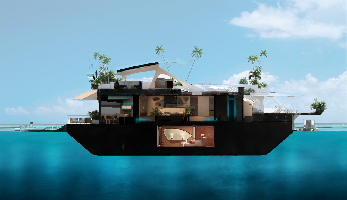 Chasing summer with orsos island fashion class jet for Maison flottante